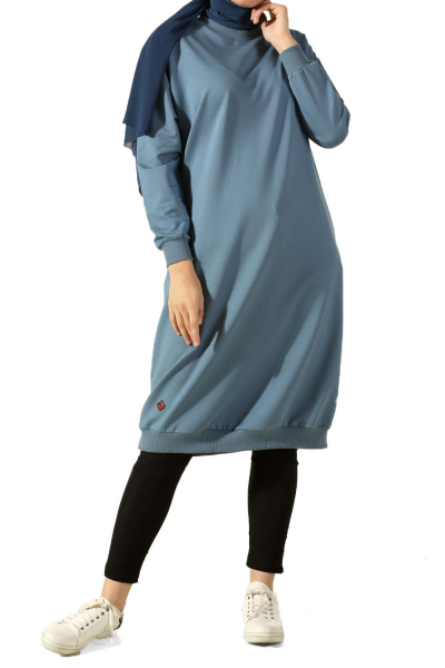 CREW NECK DROP SLEEVE TUNIC