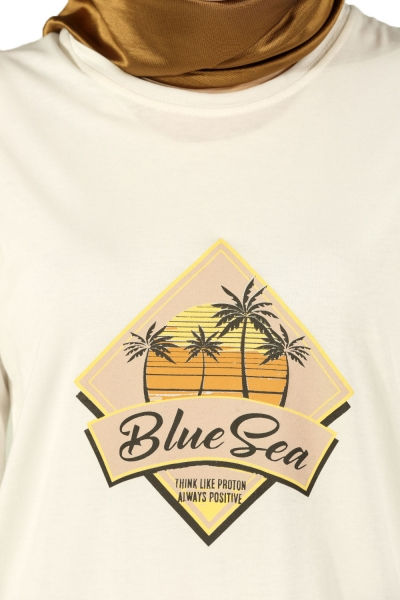 BLUE SEA BASKILI PENYE TUNİK