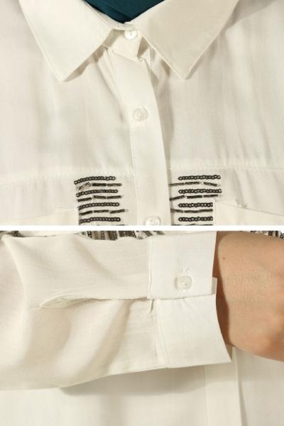 Sequin Pocket Shirt