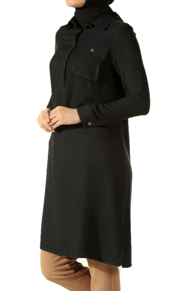 POCKET TUNIC WITH COLLAR