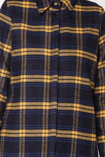 Gizli Patlı Ekose Oduncu Gömlek Tunik