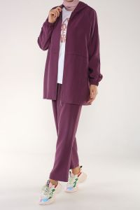 ZIPPERED HIJAB SUIT