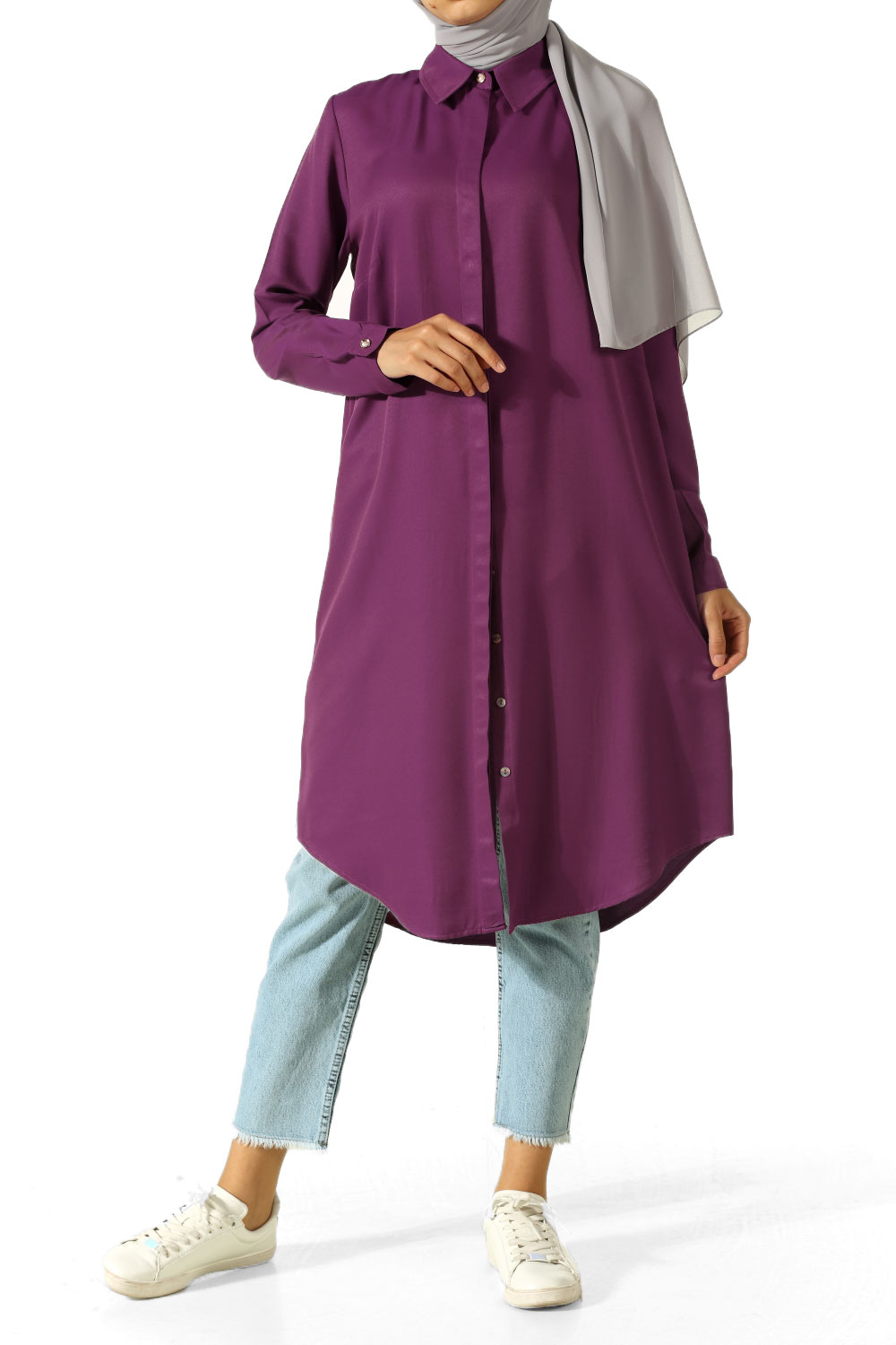 BASIC TUNIC WITH HIDDEN BUTTONS