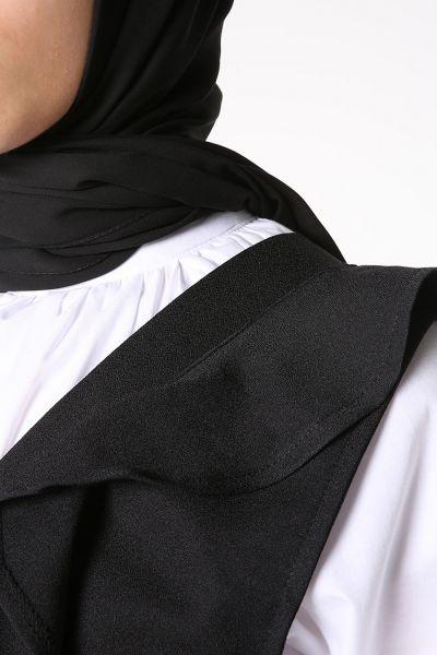BELTED RUFFLED DRESS