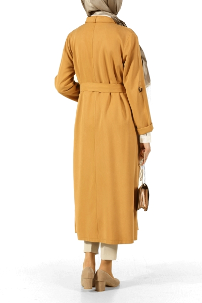 BELTED TRENCH WITH BUCKLE