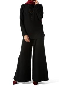 Metal Kolyeli Tunik & Pantolon Takım