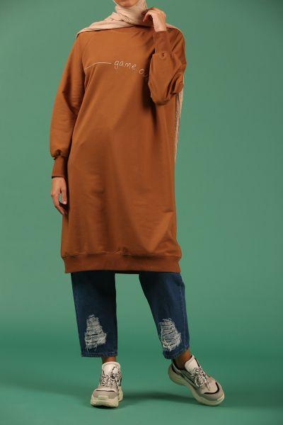 Nakışlı Penye Sweatshirt