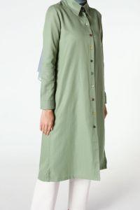 Renkli Düğmeli Gömlek Tunik