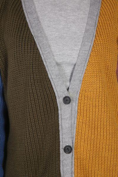Renkli Düğmeli Kısa Hırka