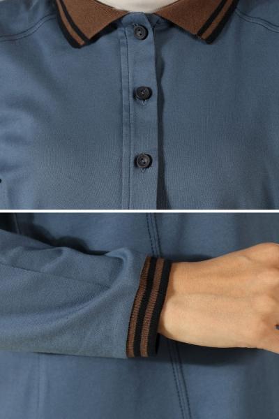 Düğmeli Uzun Tunik