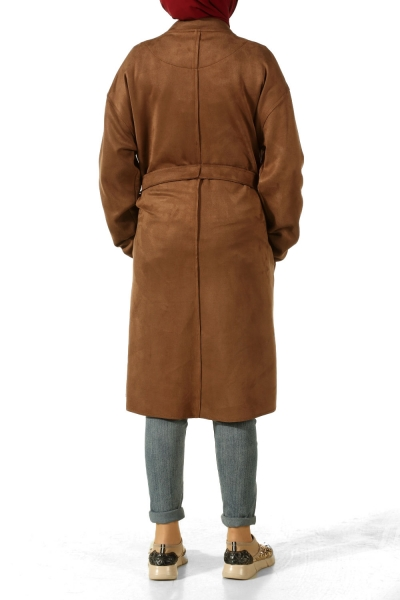 T Sleeve Belted Trench