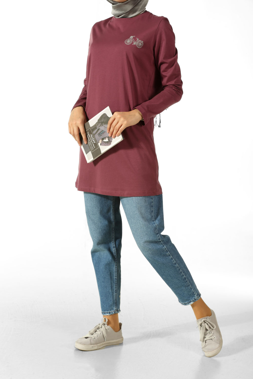 THE BOSS PRINTED COMBED COTTON TUNIC