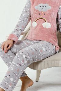 Üçlü Polar Pijama Takımı