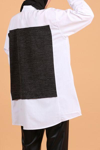Yaka Modelli Düğmeli Gömlek